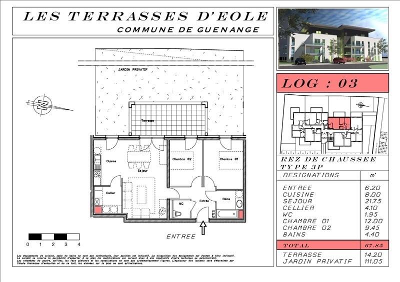 Vente appartement Guenange 169640€ - Photo 4