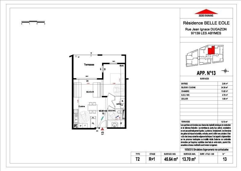 Sale apartment Les abymes 156500€ - Picture 12