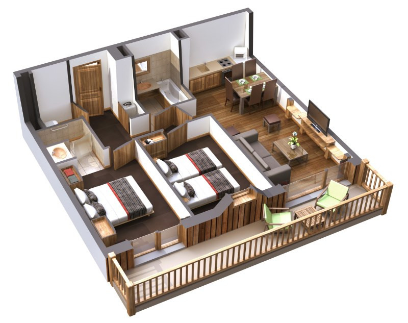 R sidence 5 toiles le daria i nor programme immobilier neuf l 39 alpe d 39 - Immobilier l alpe d huez ...