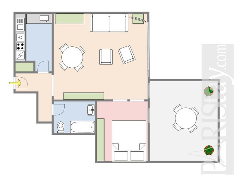 Vente de prestige appartement Paris 17ème 720000€ - Photo 3