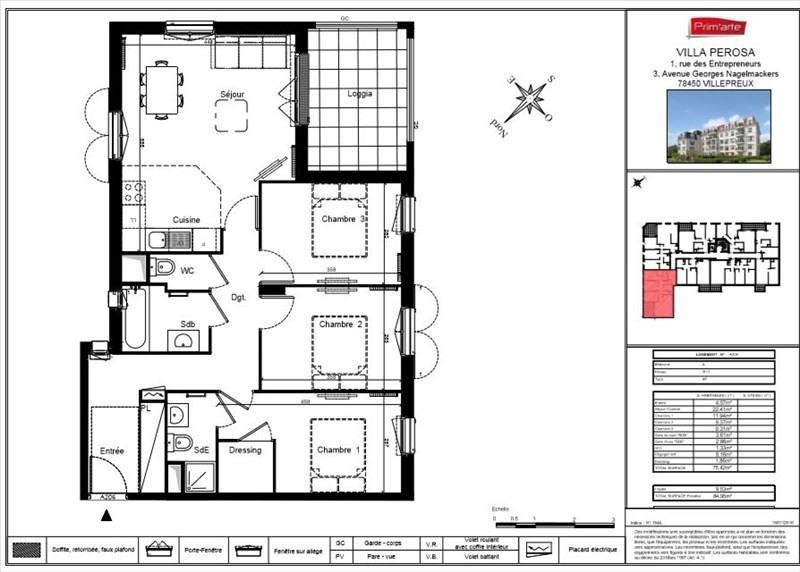 Vente appartement Villepreux 260000€ - Photo 4