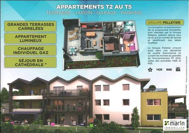 Venta  apartamento Aix les bains 232300€ - Fotografía 4