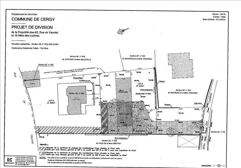 Verkauf grundstück Cergy 187000€ - Fotografie 1
