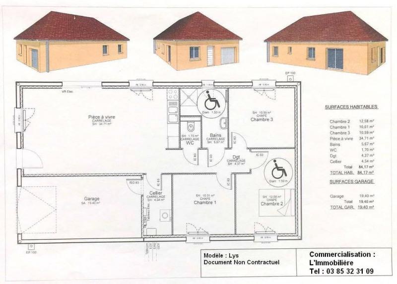 Sale house / villa Lons le saunier 5 mns 163000€ - Picture 5