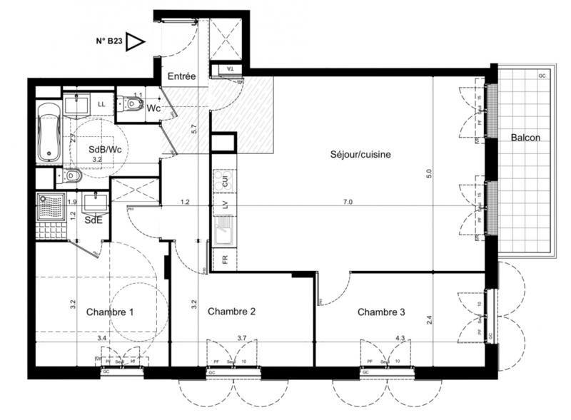 Vente appartement Plaisir 332000€ - Photo 2