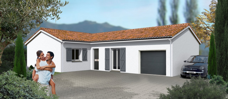 """Modèle de maison  """"Modèle de maison 4 pièces + Garage"""" à partir de 4 pièces Gironde par LOGISBOX"""