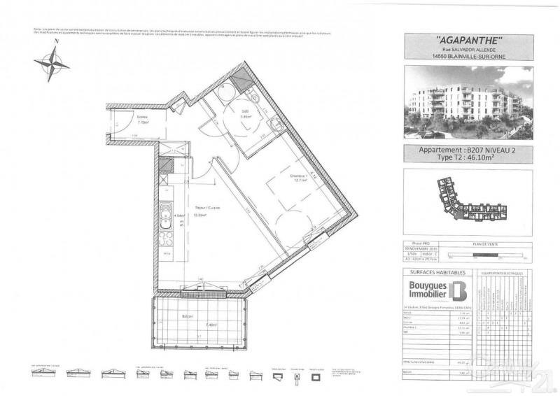 Location appartement Blainville sur orne 525€ CC - Photo 2
