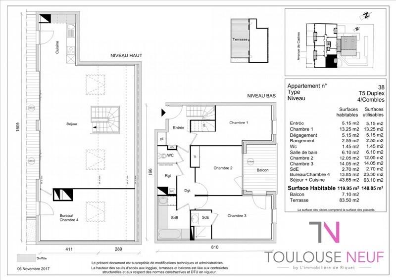 Vente appartement Toulouse 429900€ - Photo 4