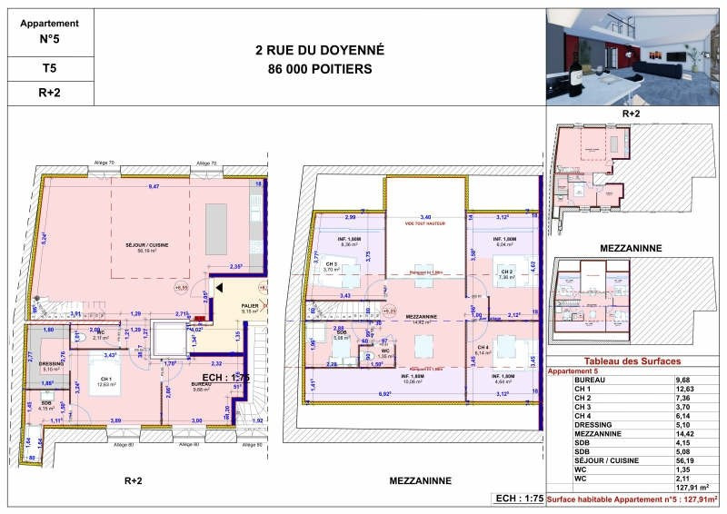 Sale apartment Poitiers 378000€ - Picture 1