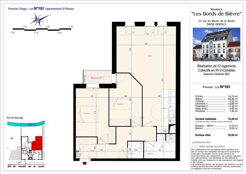 Vente appartement Gentilly 369000€ - Photo 1