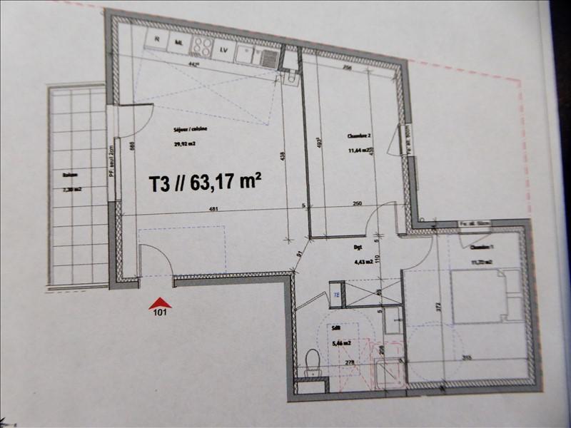 Vente appartement Luzinay 173000€ - Photo 3