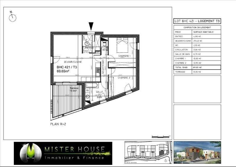 Verkoop  appartement Montauban 171055€ - Foto 2