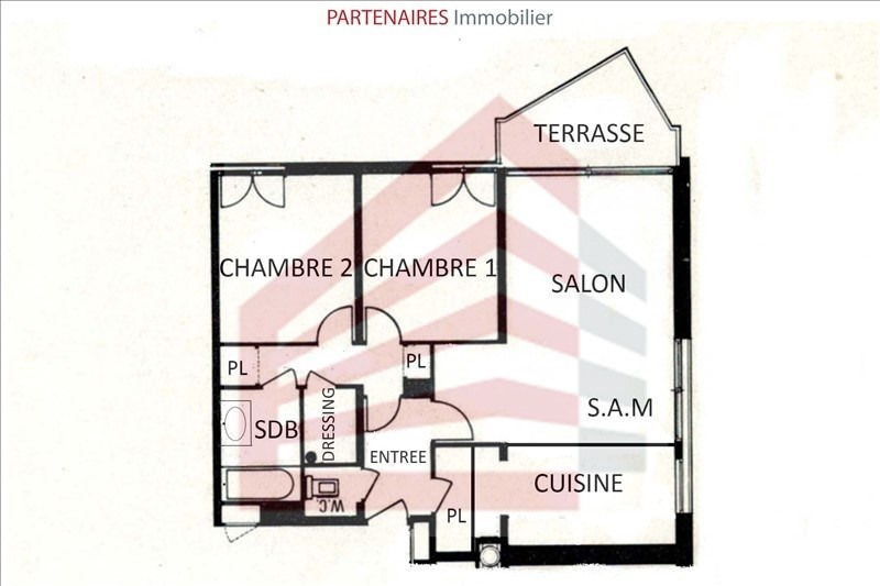 Sale apartment Le chesnay 271 000€ - Picture 3
