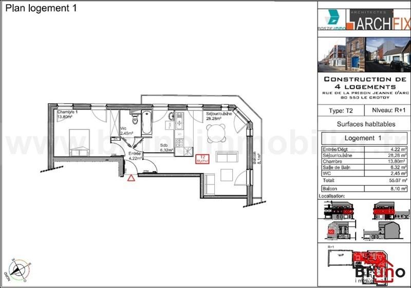 Revenda residencial de prestígio apartamento Le crotoy 249800€ - Fotografia 4