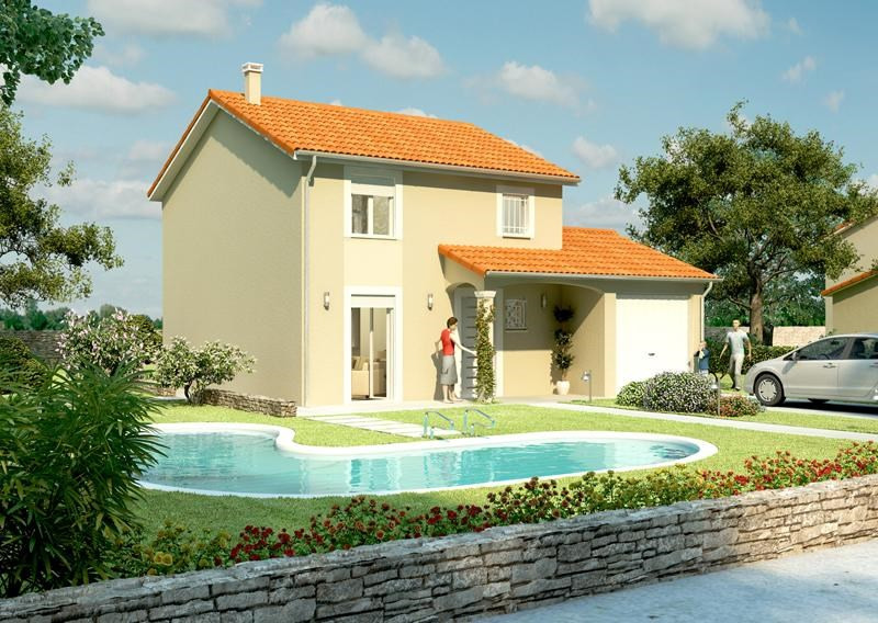 Maison  3 pièces + Terrain 359 m² Estrablin (38780) par LES TOITS DE PROVINCE