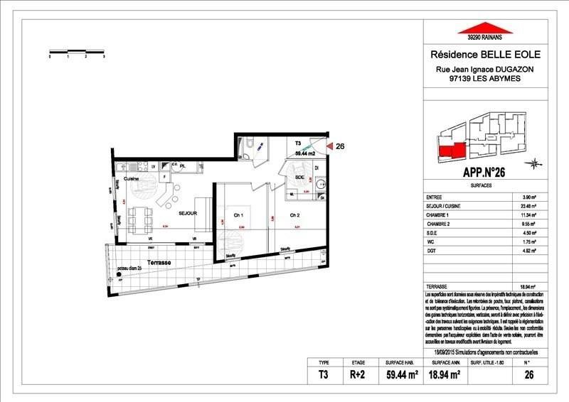 Sale apartment Les abymes 156500€ - Picture 10