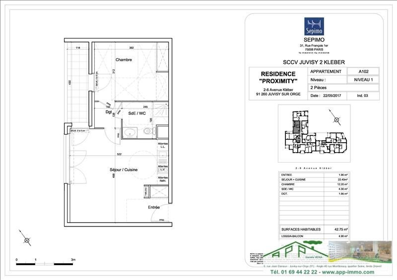 Investment property apartment Juvisy sur orge 208000€ - Picture 4