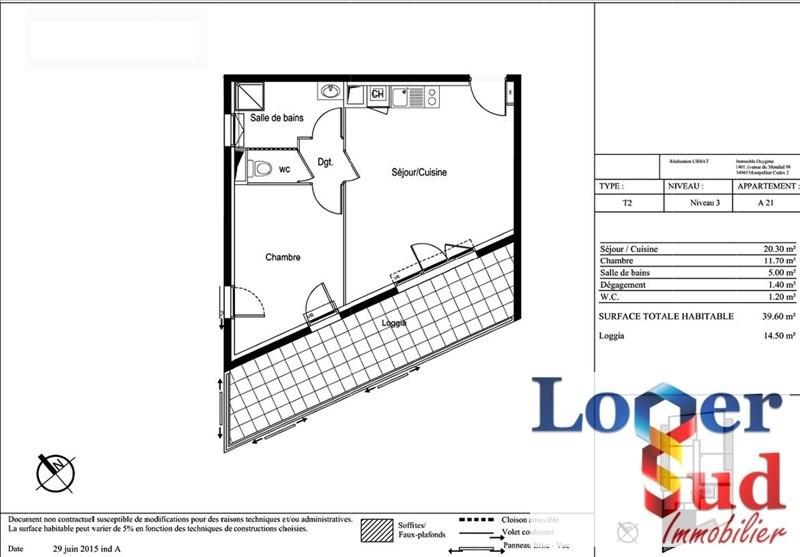 Sale apartment Montpellier 209500€ - Picture 4