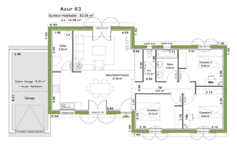 Maison  5 pièces + Terrain 700 m² Pouillon (40350) par LITTORAL HABITAT