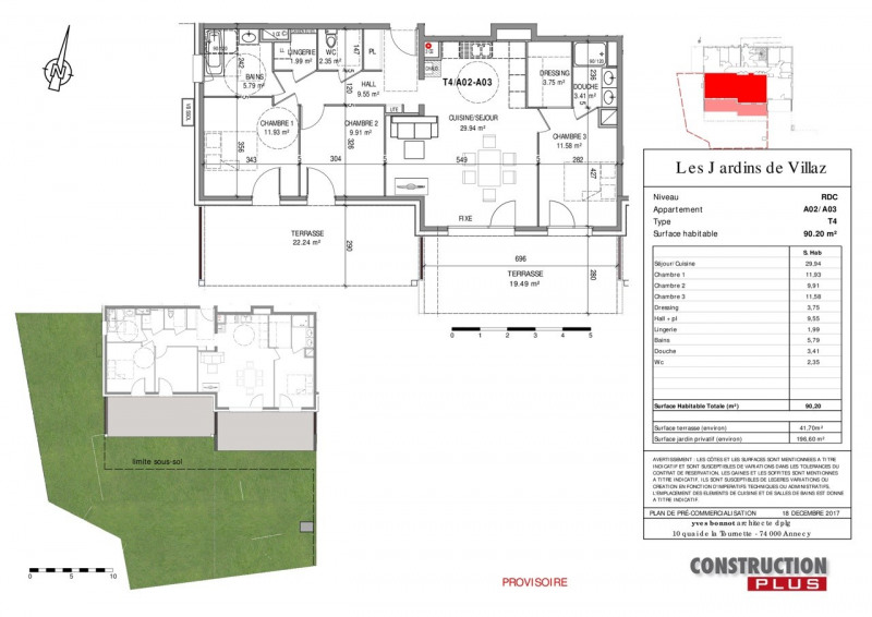 Sale apartment Villaz 399000€ - Picture 6