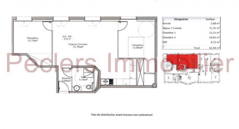 Vente Appartement 3 pièces 64m² Rueil Malmaison