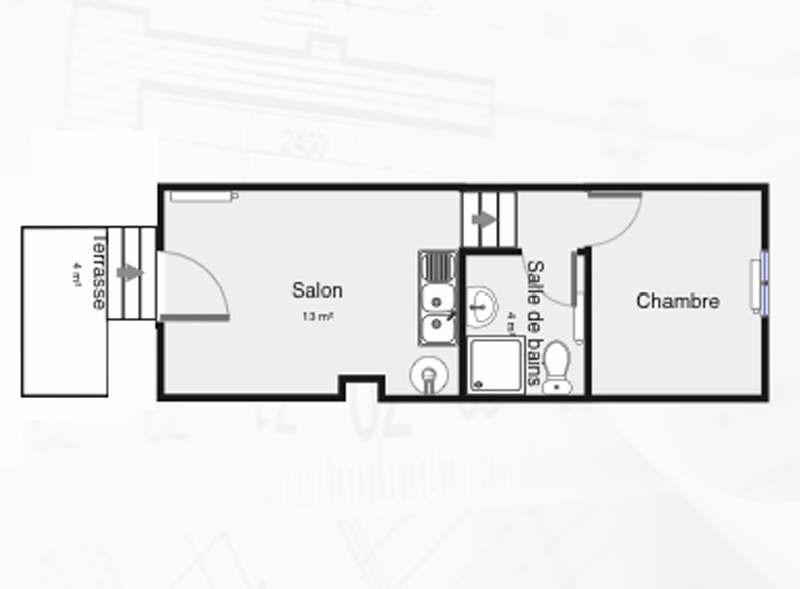 Location appartement Palaiseau 674€ CC - Photo 1