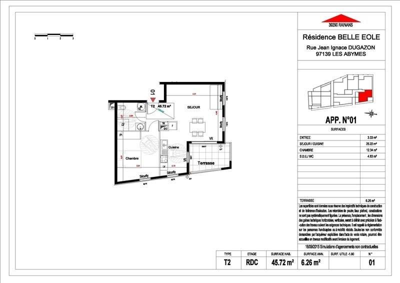 Sale apartment Les abymes 156500€ - Picture 15