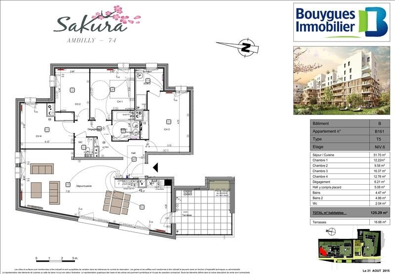 Deluxe sale apartment Ambilly 555 000€ - Picture 2
