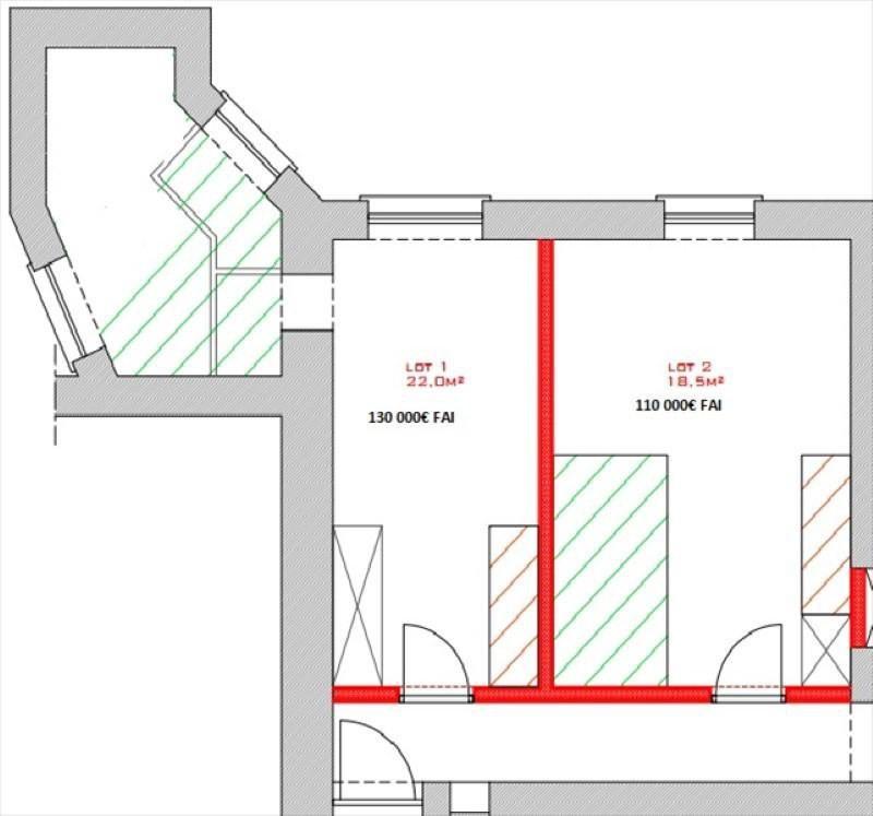 Vente appartement Lyon 1er 110000€ - Photo 2