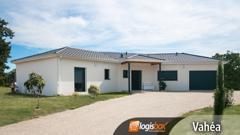 """Modèle de maison  """"Maison 4 chambres 130m² + Garage + Terrasse Couverte et Porche"""" à partir de 5 pièces Lot-et-Garonne par LOGISBOX"""
