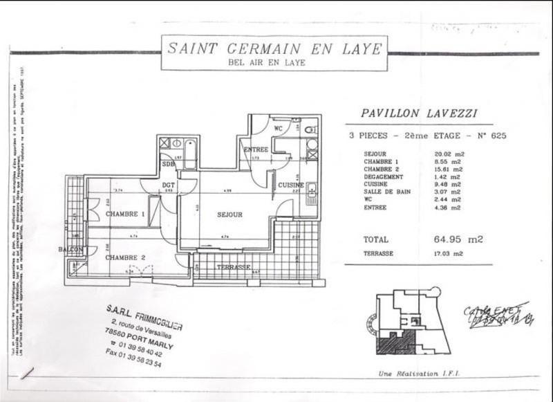 Location appartement St germain en laye 1265€ CC - Photo 1