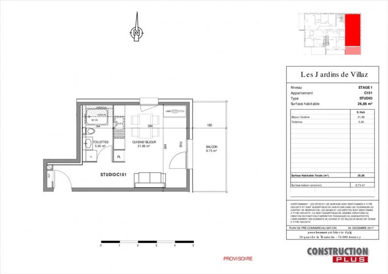 Sale apartment Villaz 119000€ - Picture 5
