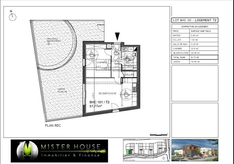 Verkoop  appartement Montauban 130248€ - Foto 2