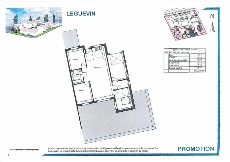 Vente maison / villa Leguevin 272000€ - Photo 1