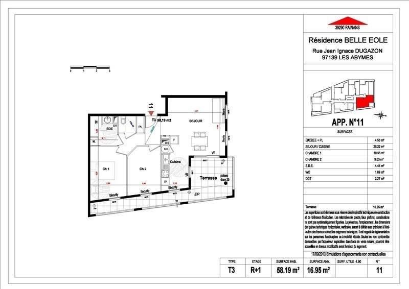 Sale apartment Les abymes 156500€ - Picture 13