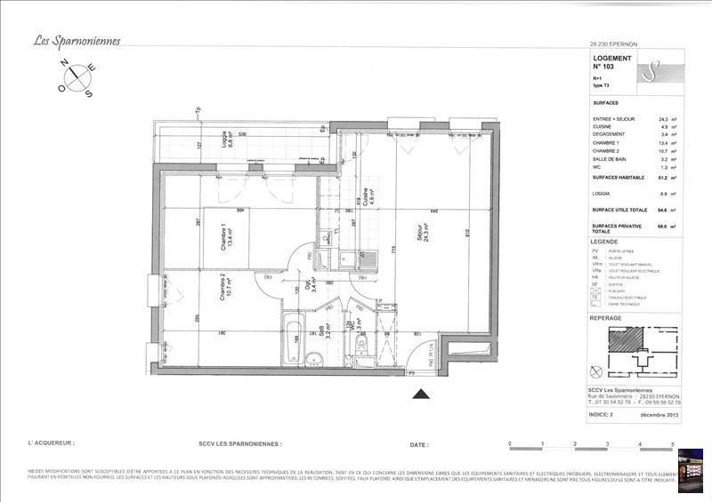Produit d'investissement appartement Epernon 199900€ - Photo 2