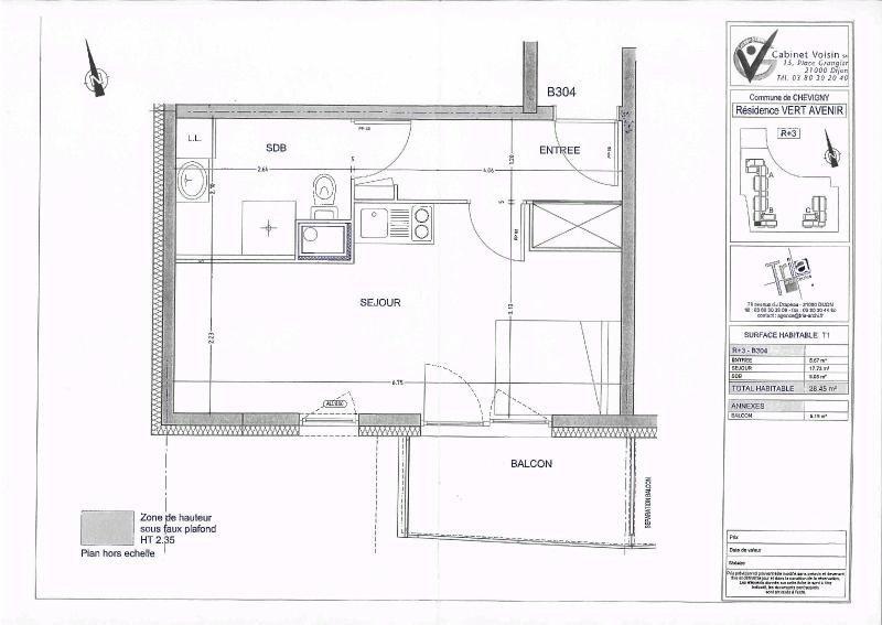 Location appartement Chevigny st sauveur 391€ CC - Photo 4