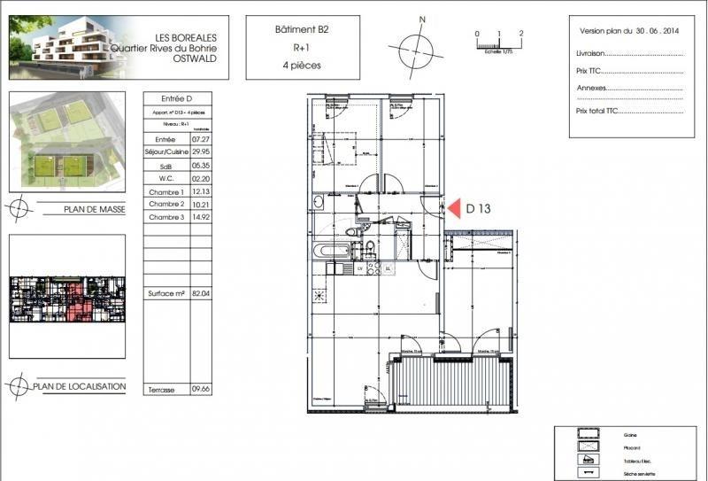 Venta  apartamento Ostwald 268400€ - Fotografía 2
