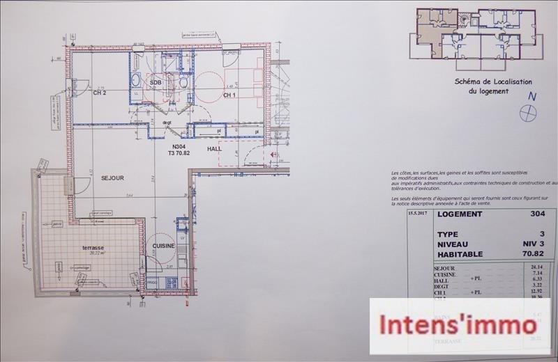 Sale apartment Pizancon 200000€ - Picture 3