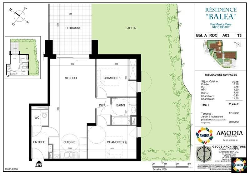Venta  apartamento Bidart 330000€ - Fotografía 1