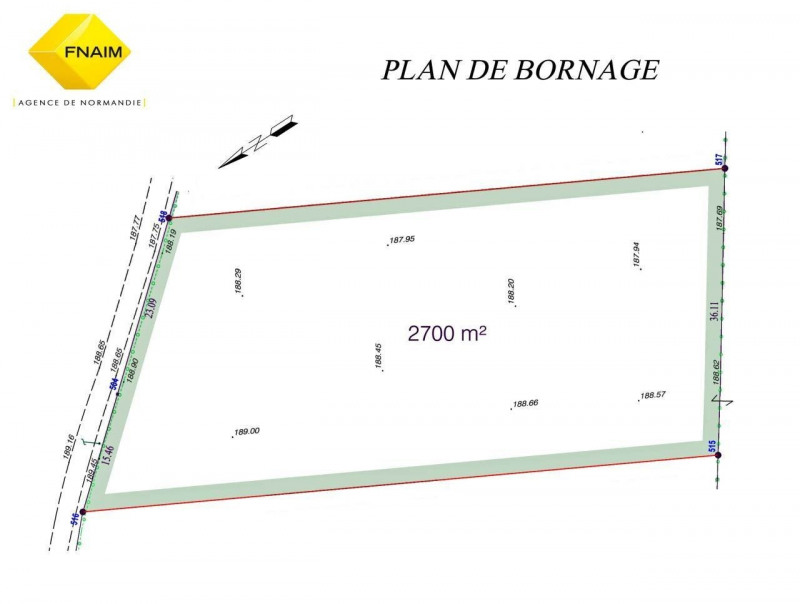 Sale site Broglie 21500€ - Picture 1