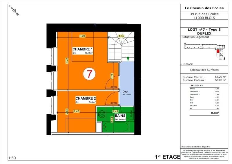 Vente appartement Blois 130000€ - Photo 4