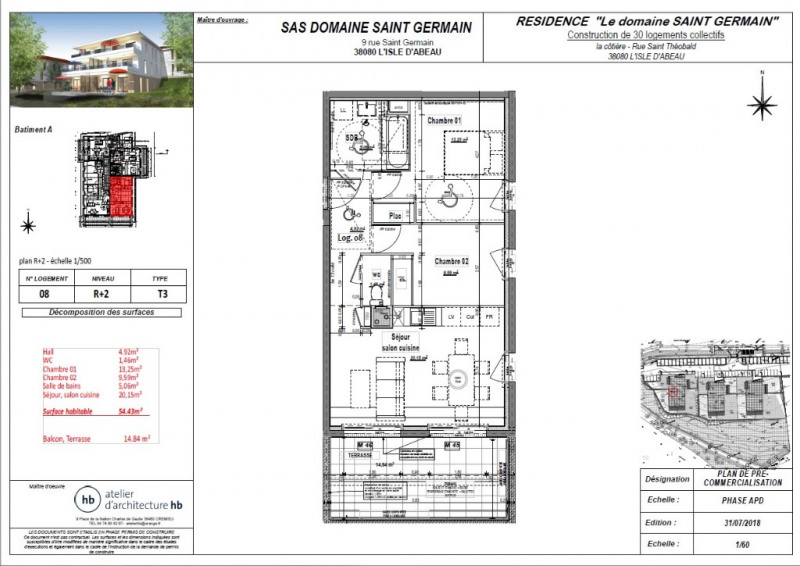 Vente appartement L isle d abeau 159860€ - Photo 3