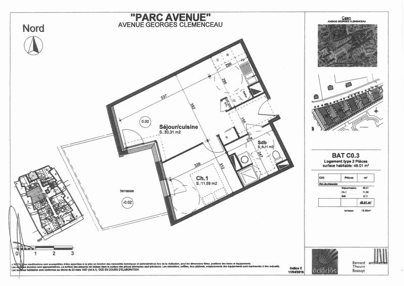 Location appartement Caen 620€ CC - Photo 11