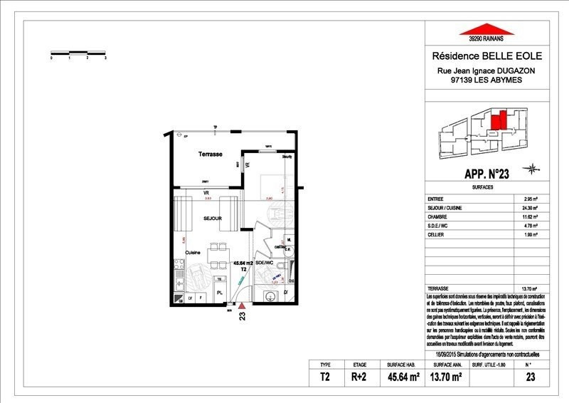 Sale apartment Les abymes 156500€ - Picture 3