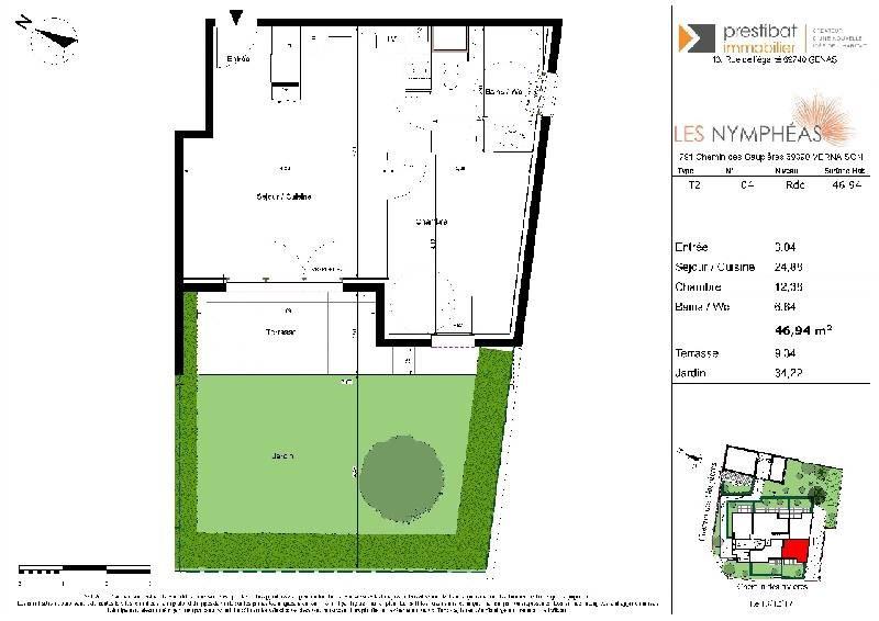 Sale apartment Vernaison 178500€ - Picture 1