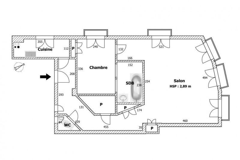 Vente appartement Paris 2ème 640000€ - Photo 3