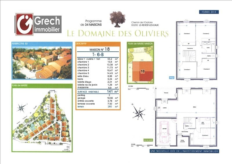 Vendita casa Le revest les eaux 462700€ - Fotografia 1
