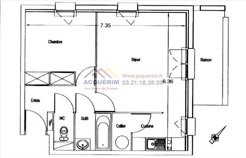 Produit d'investissement appartement Harnes 63000€ - Photo 6