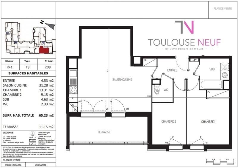 Vente appartement Castanet tolosan 225000€ - Photo 8